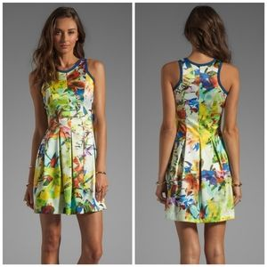 Parker Silk Rio Tropic Watercolor Floral Dress